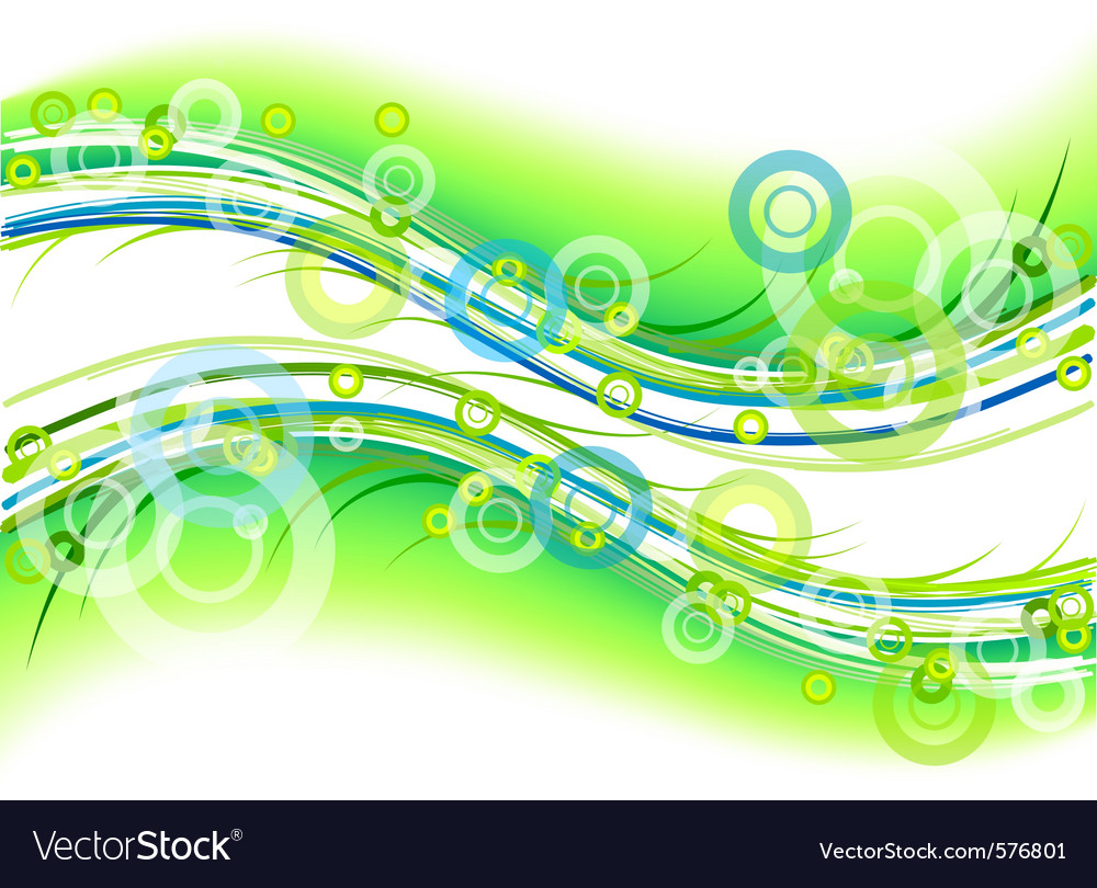 Green background with circles and lines vector | Price: 1 Credit (USD $1)