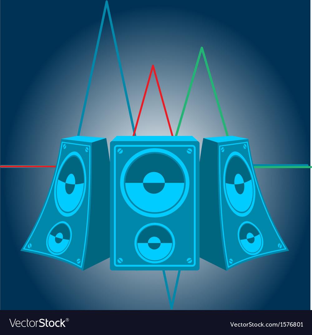 Music speakers vector | Price: 1 Credit (USD $1)