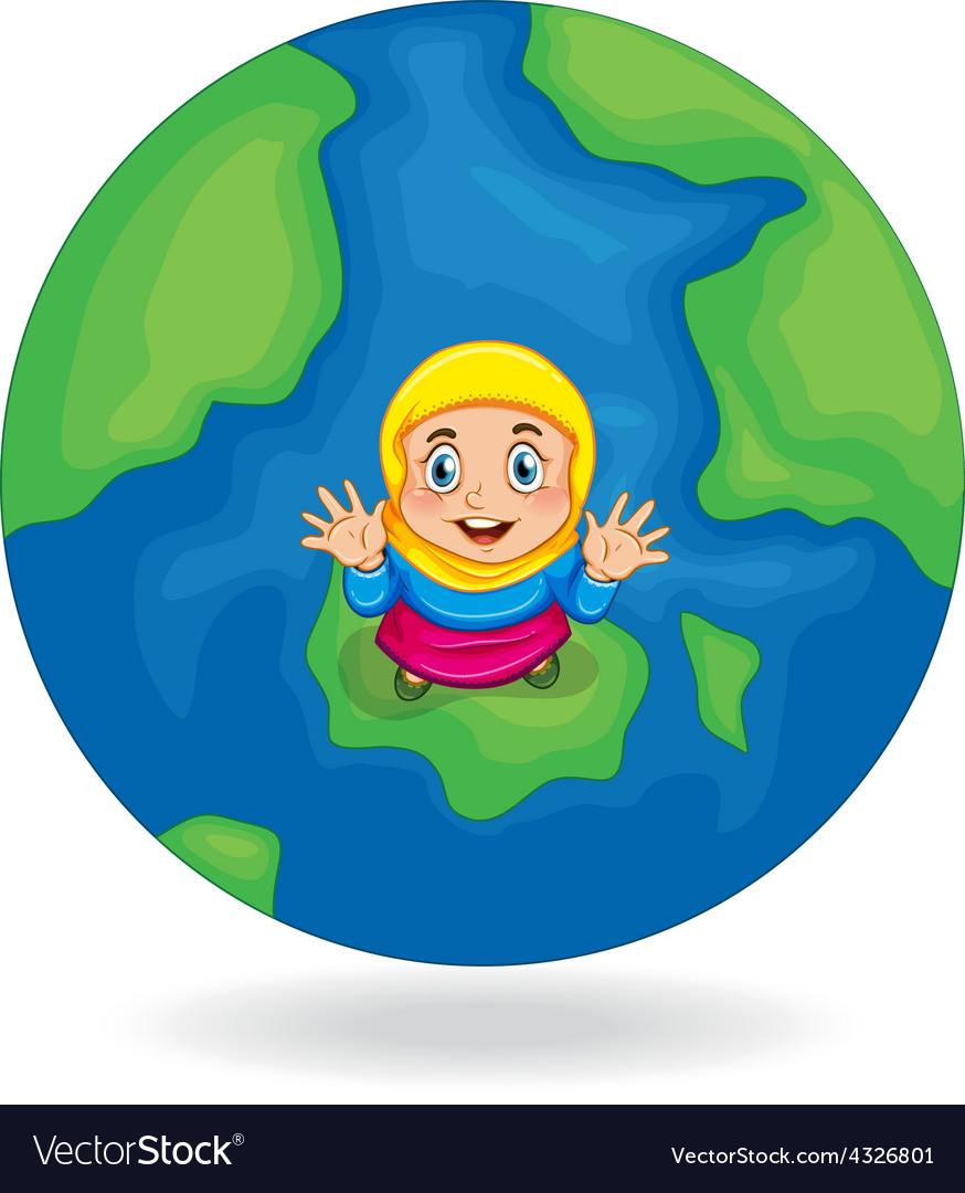 Muslim girl vector   Price: 1 Credit (USD $1)