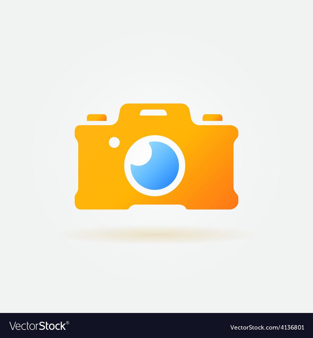 Photo camera simple logo vector | Price: 1 Credit (USD $1)