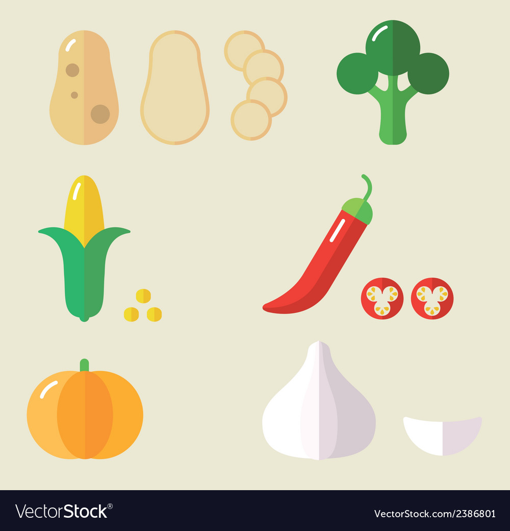 Veg set ii vector | Price: 1 Credit (USD $1)