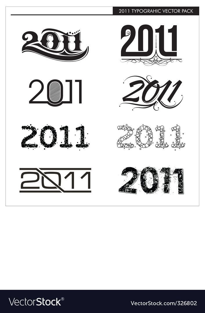 2011 typographic vector | Price: 1 Credit (USD $1)