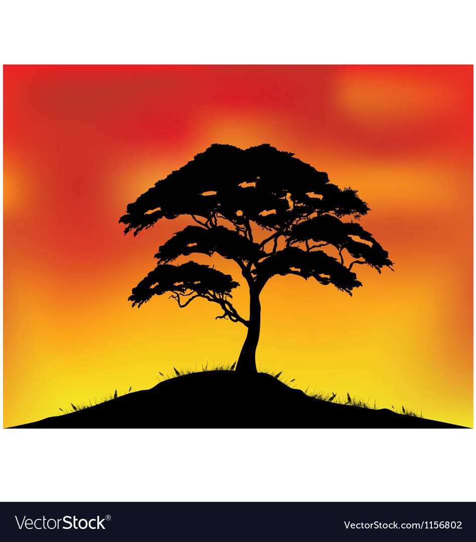 Africa landscape background vector | Price: 1 Credit (USD $1)