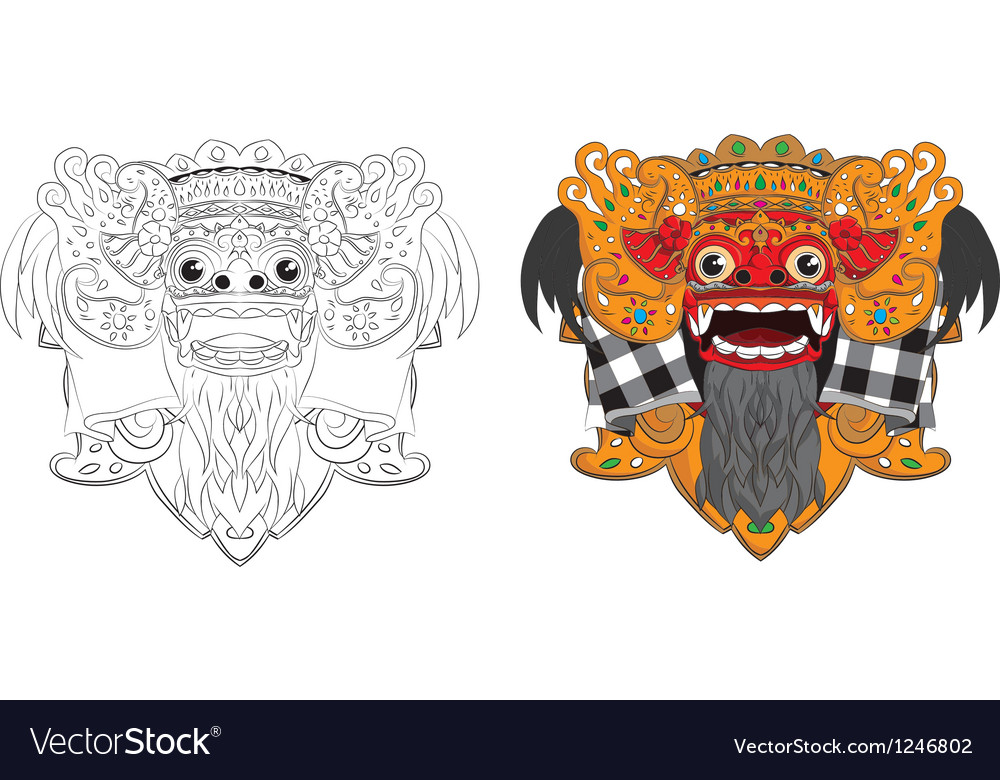 Barong-mask vector | Price: 3 Credit (USD $3)