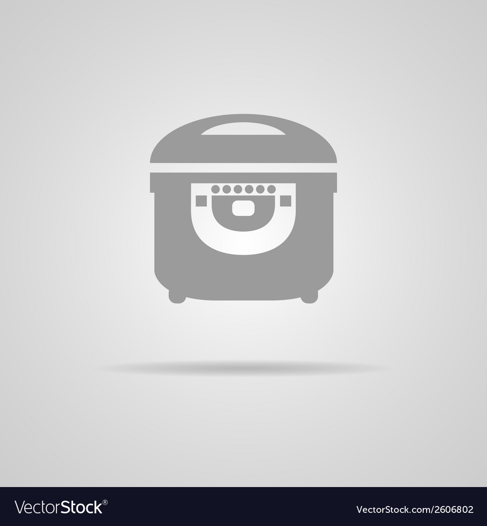 Electric cooker icon vector | Price: 1 Credit (USD $1)