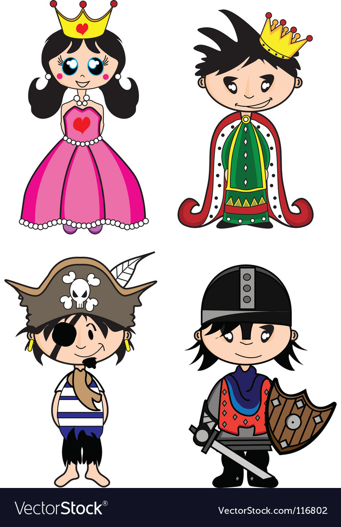 Fairytale characters vector | Price: 1 Credit (USD $1)