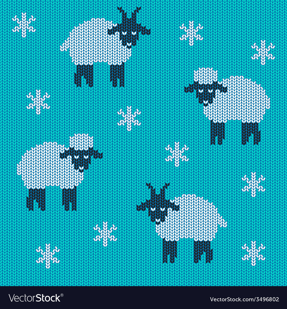 Knitted holiday seamless vector | Price: 1 Credit (USD $1)