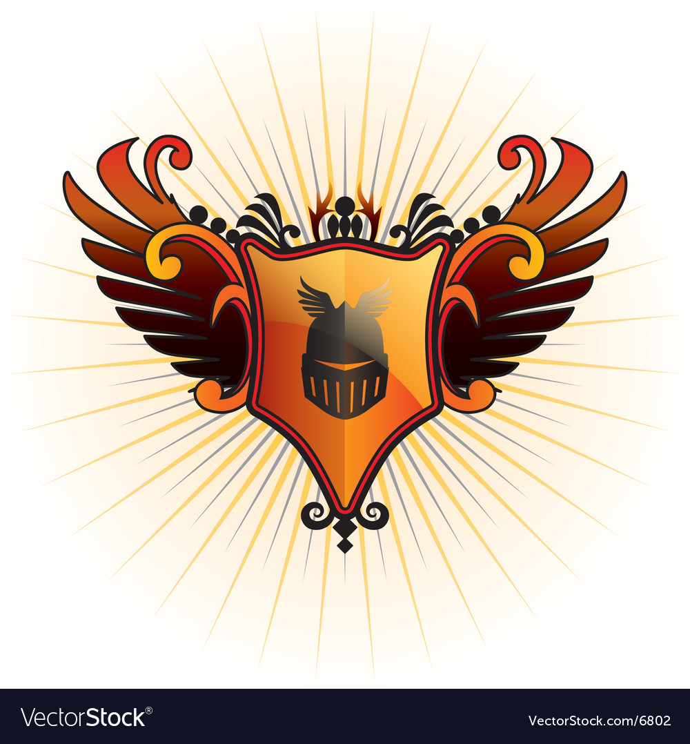 Orange herald vector | Price: 1 Credit (USD $1)