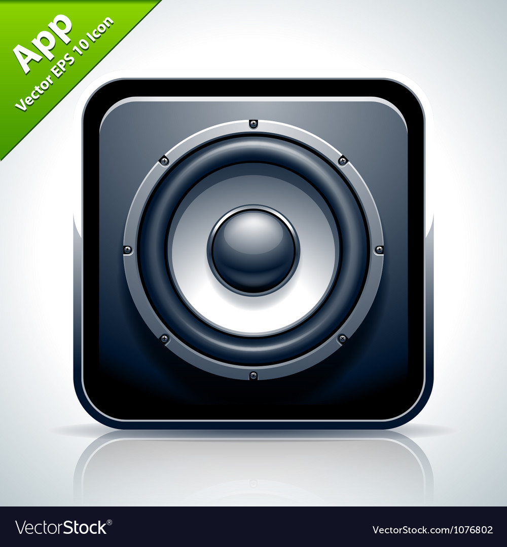 Speaker musical app icon vector | Price: 3 Credit (USD $3)