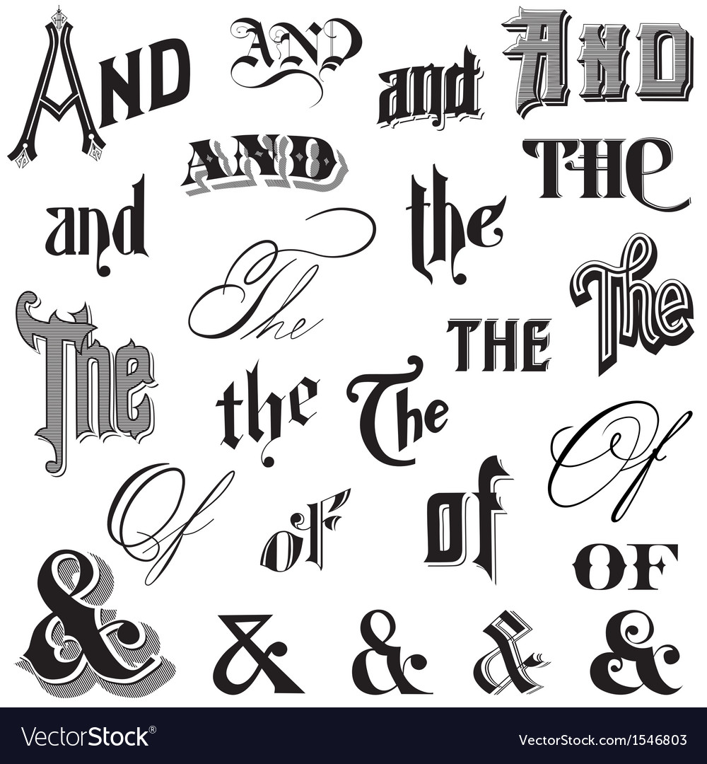 Calligraphic ands and thes vector   Price: 1 Credit (USD $1)
