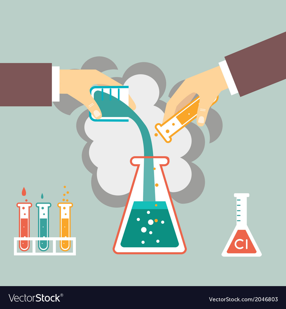Chemical experiment vector | Price: 1 Credit (USD $1)