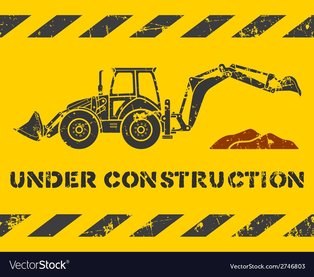 Excavator and dirt vector | Price: 1 Credit (USD $1)
