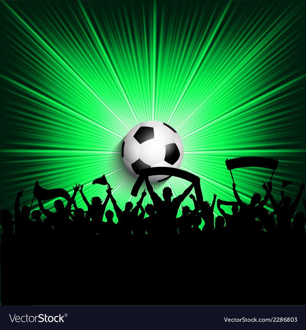 Football supporters background vector | Price: 1 Credit (USD $1)