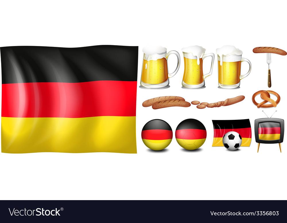 German set vector | Price: 1 Credit (USD $1)