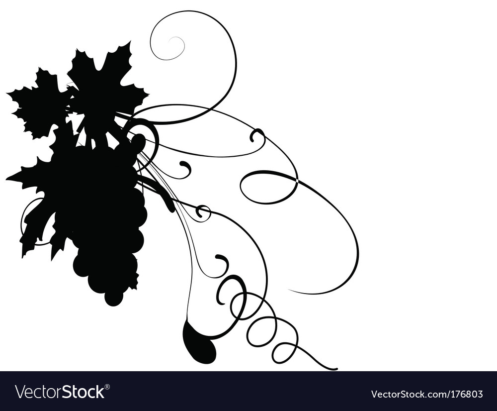 Grape silhouette vector | Price: 1 Credit (USD $1)
