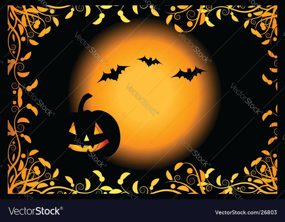Halloween night background vector | Price: 1 Credit (USD $1)