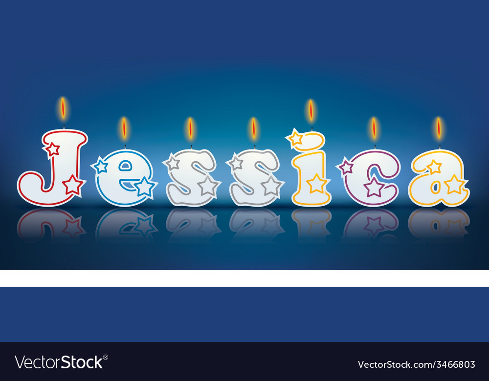 Jessica written with burning candles vector | Price: 1 Credit (USD $1)