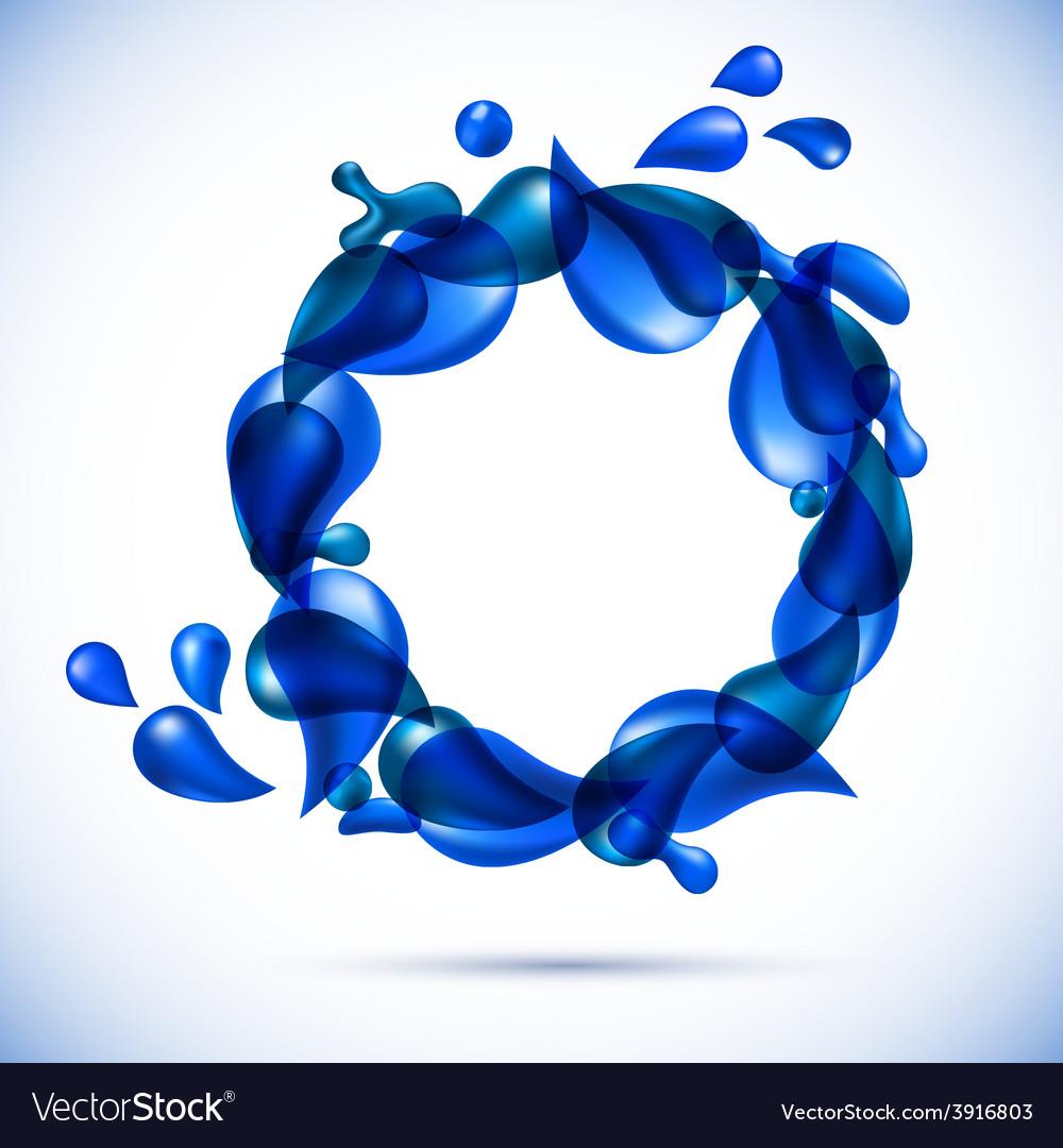 Liquid water spiral background vector | Price: 1 Credit (USD $1)
