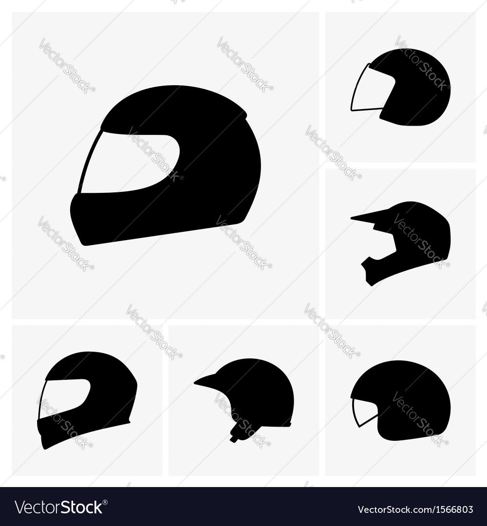 Motorcycle helmets vector | Price: 1 Credit (USD $1)