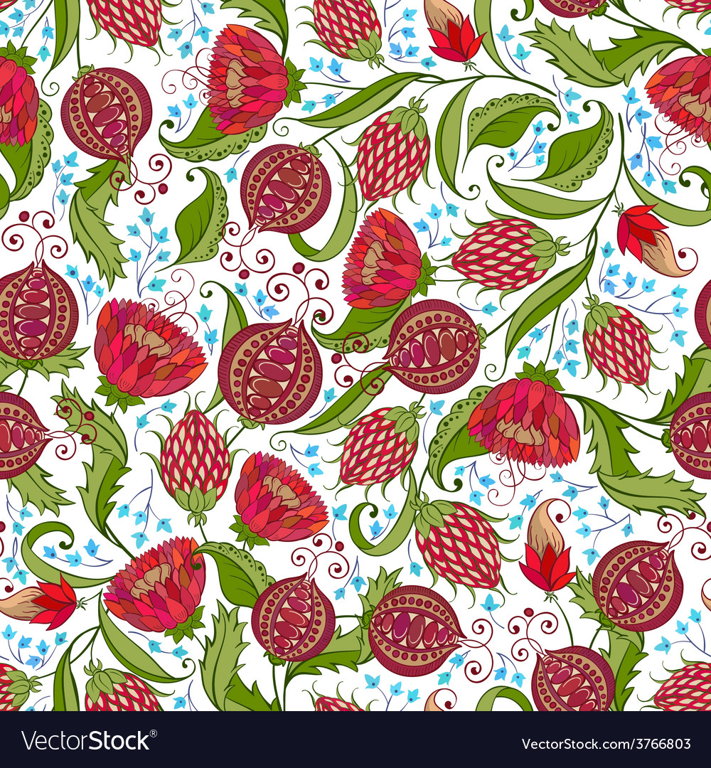 Pomegranate pattern vector | Price: 1 Credit (USD $1)