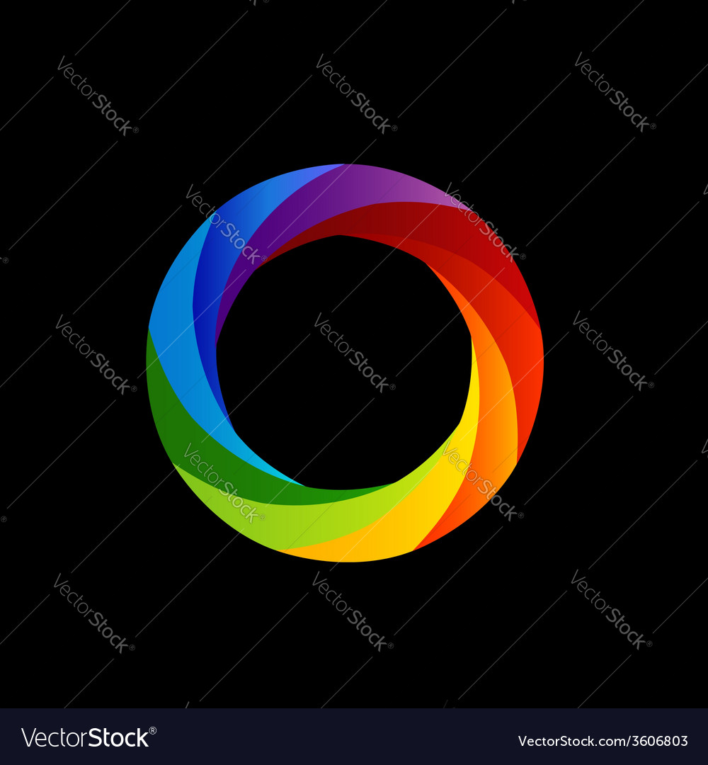 Rainbow colored photography shutter vector | Price: 1 Credit (USD $1)