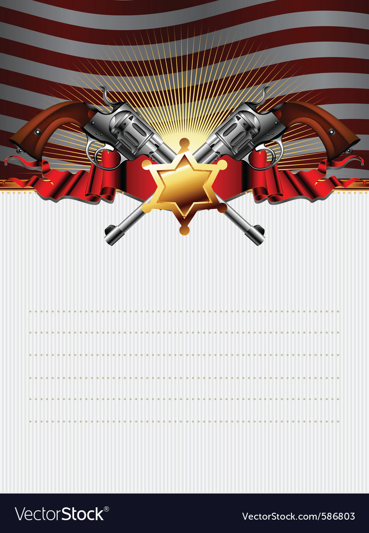 Sheriff star with guns vector | Price: 3 Credit (USD $3)