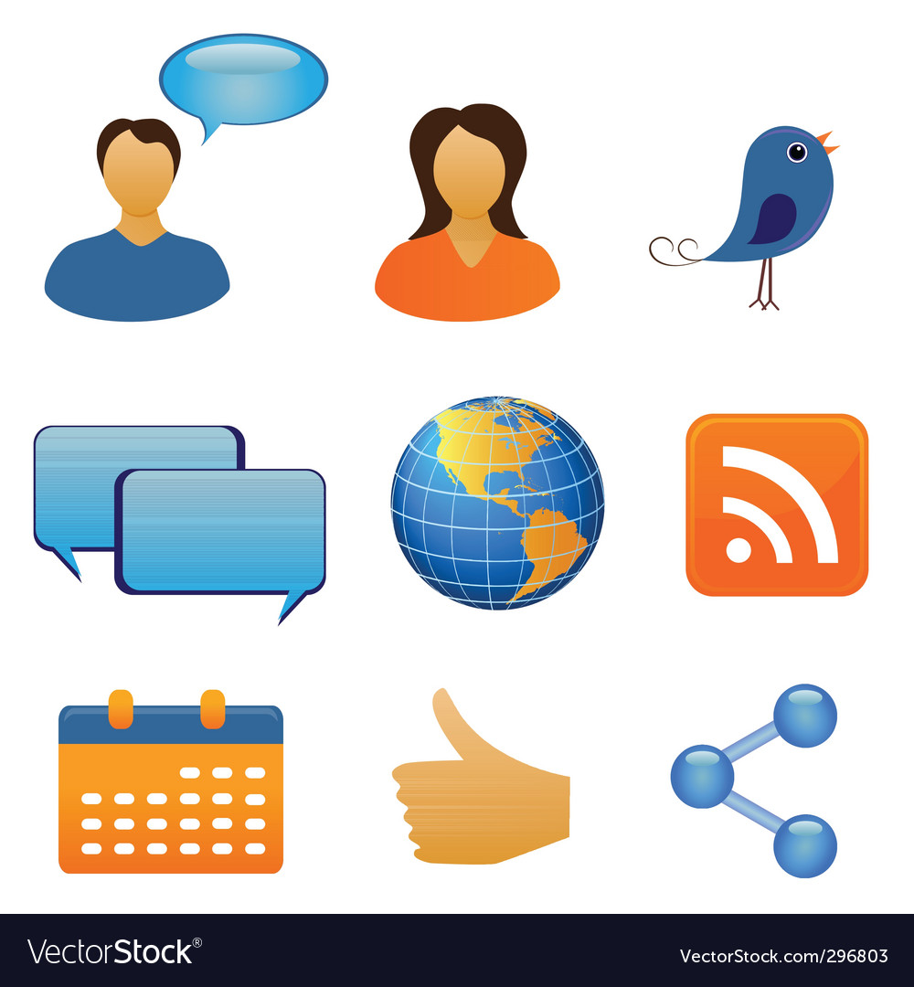 Social network icons vector | Price: 1 Credit (USD $1)