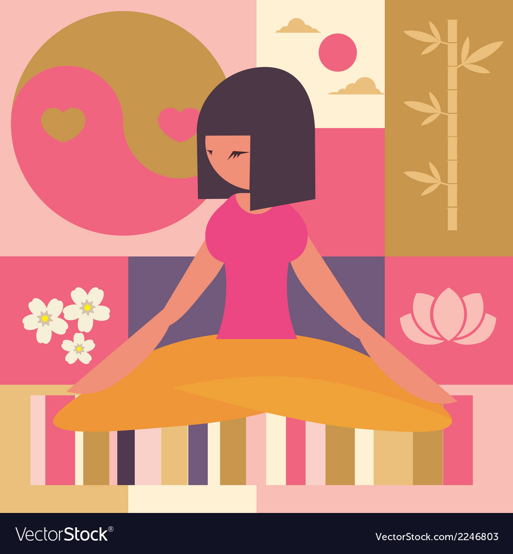 Yoga class vector | Price: 1 Credit (USD $1)