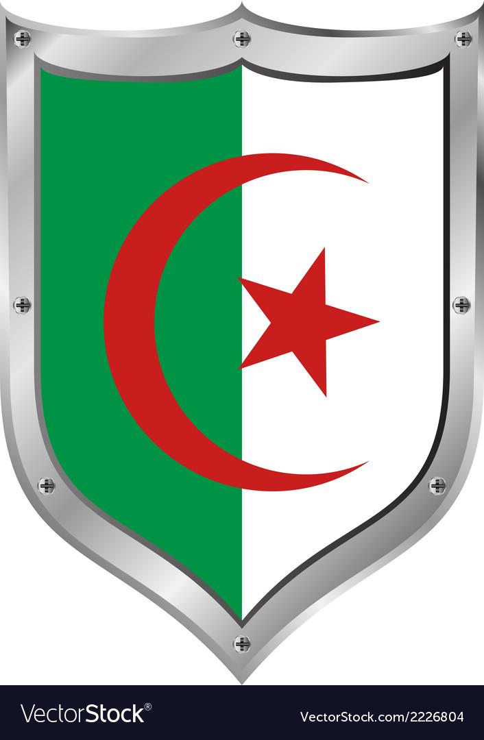 Algeria flag button vector | Price: 1 Credit (USD $1)