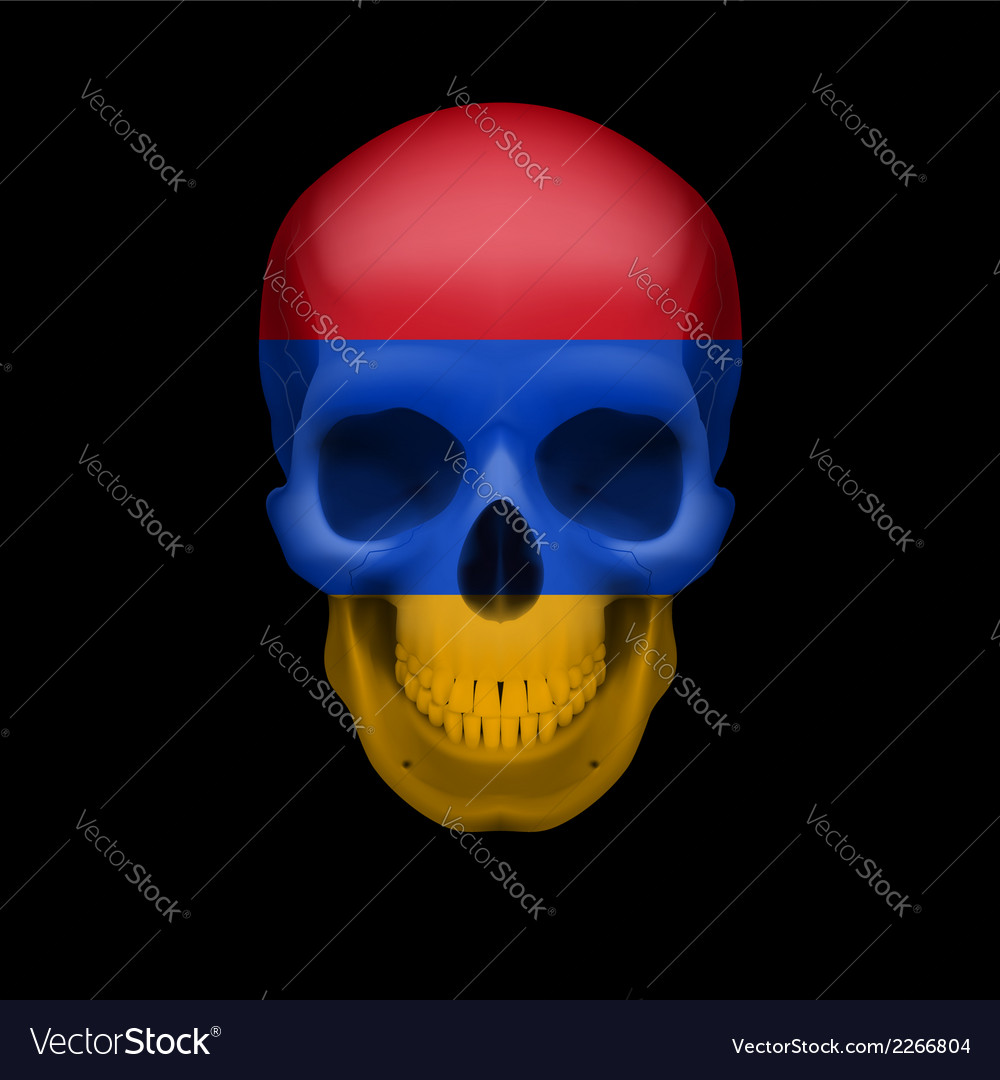 Armenian flag skull vector | Price: 1 Credit (USD $1)