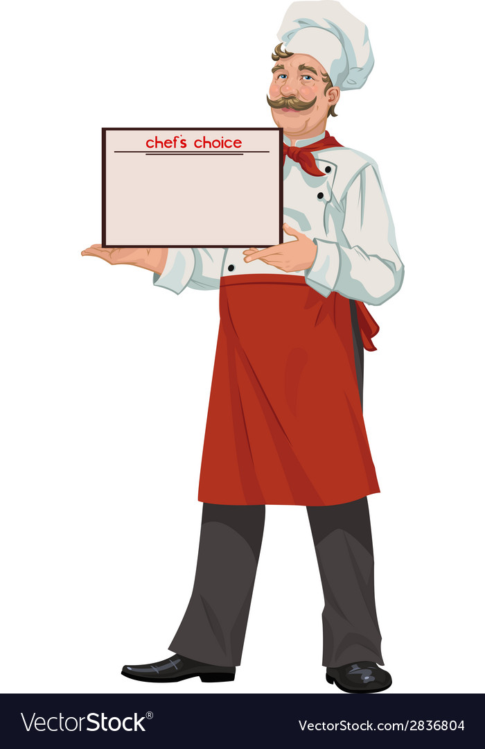 Chef presents a menu vector | Price: 1 Credit (USD $1)