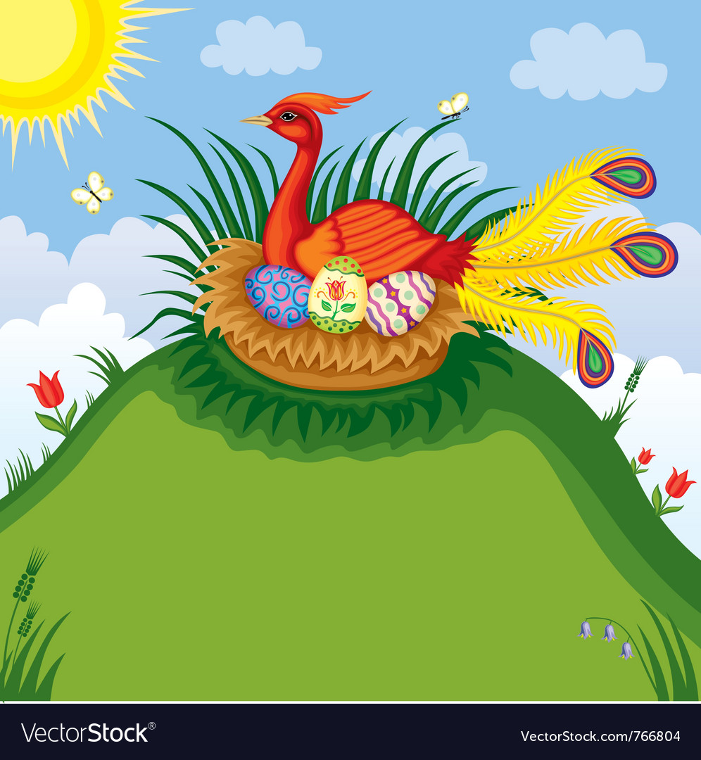 Easter bird vector | Price: 3 Credit (USD $3)