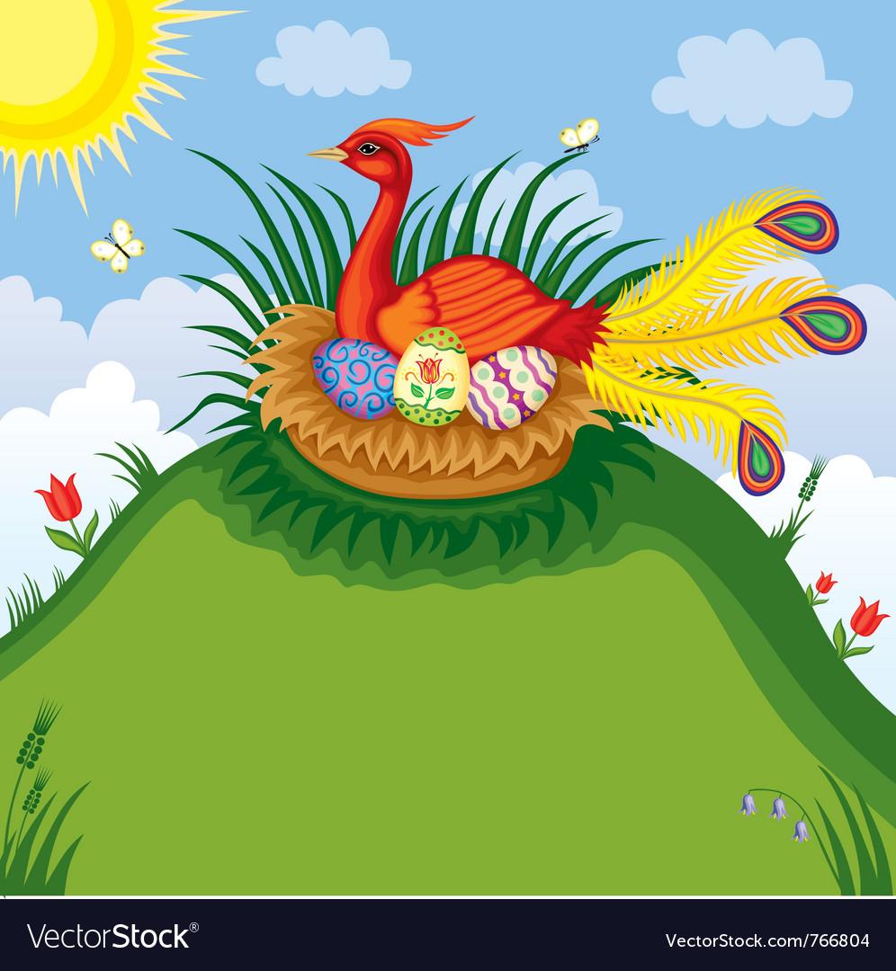 Easter bird vector   Price: 3 Credit (USD $3)