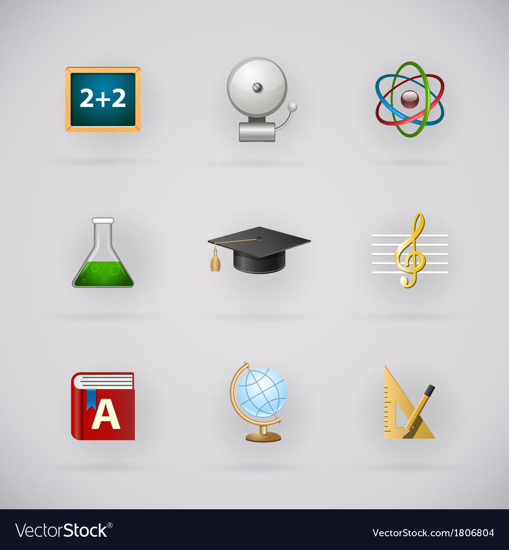 Education pictogram icons set vector | Price: 1 Credit (USD $1)