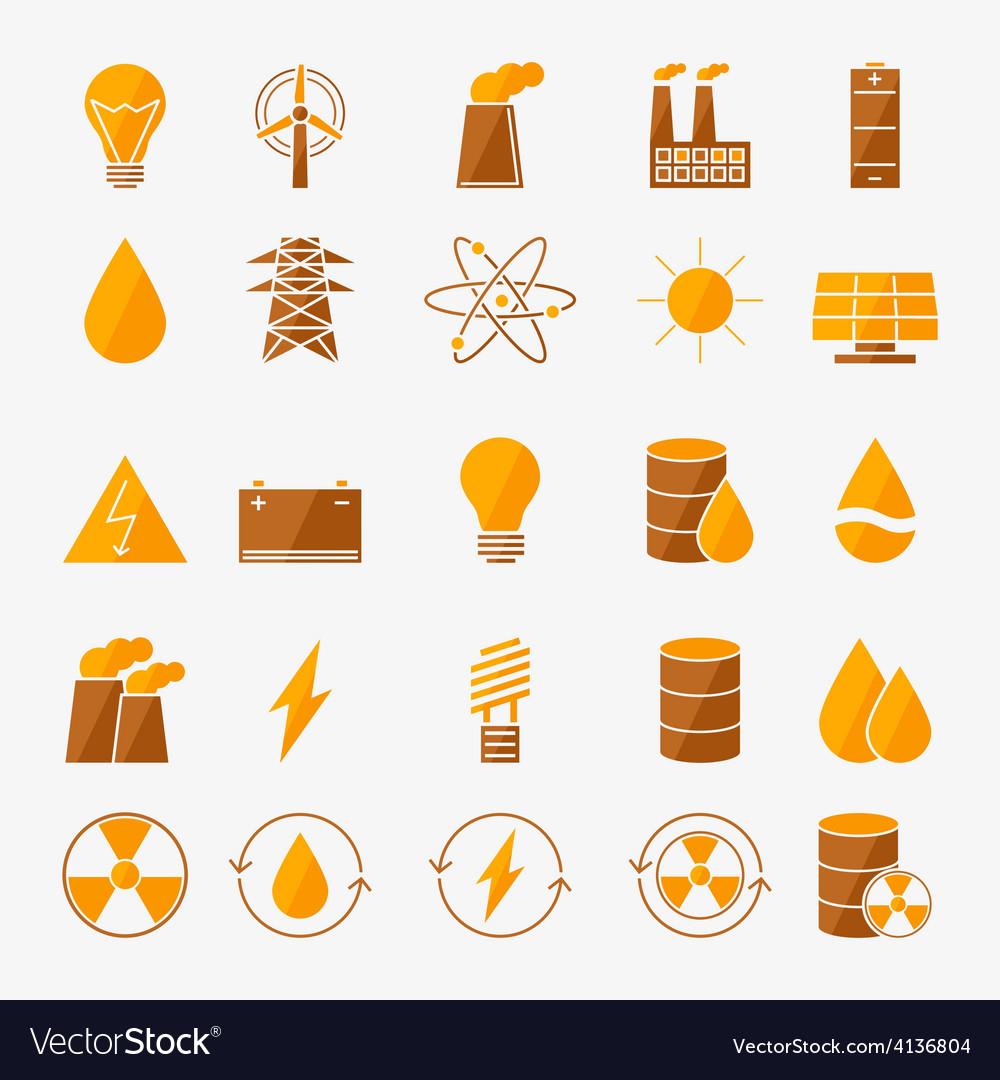 Energy icon set vector | Price: 1 Credit (USD $1)
