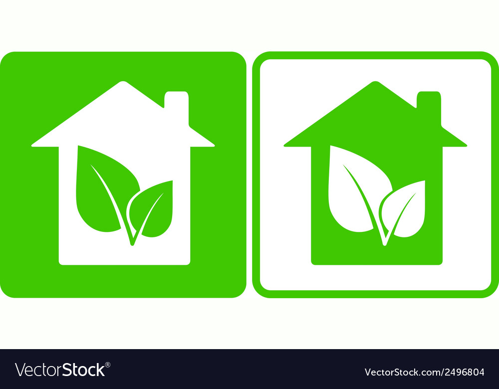 House and leaf vector | Price: 1 Credit (USD $1)