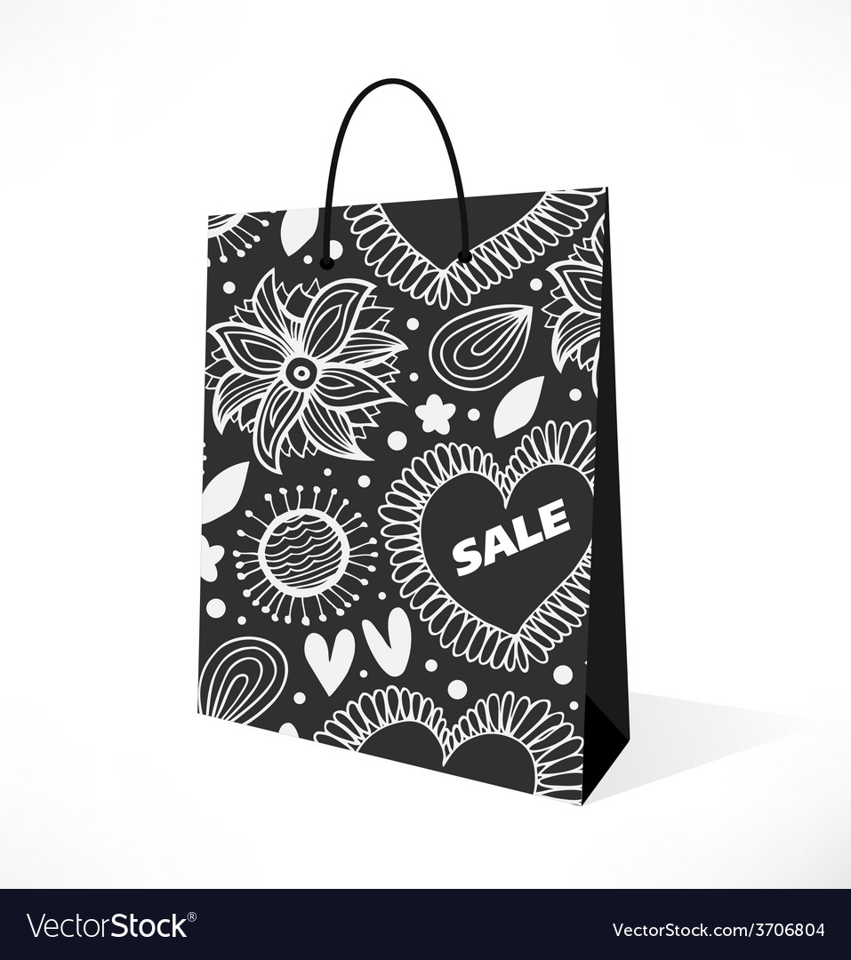 Isolated black bag vector | Price: 1 Credit (USD $1)