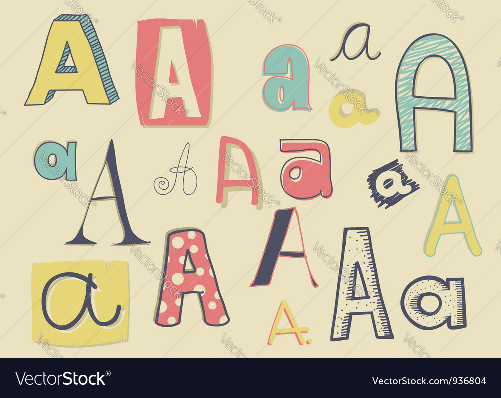 Letter a vector | Price: 1 Credit (USD $1)