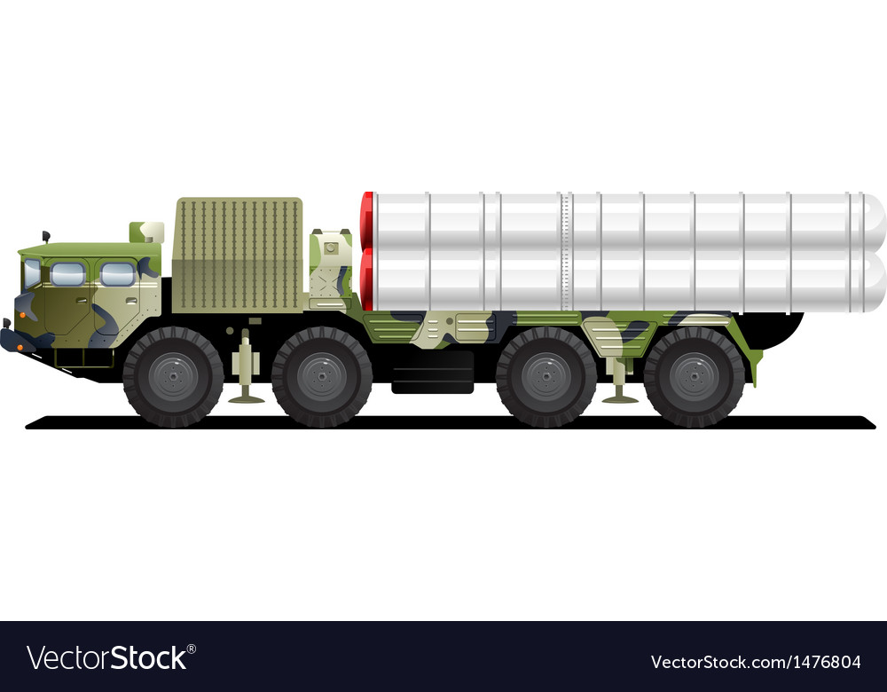 Military launch vehicle vector | Price: 1 Credit (USD $1)
