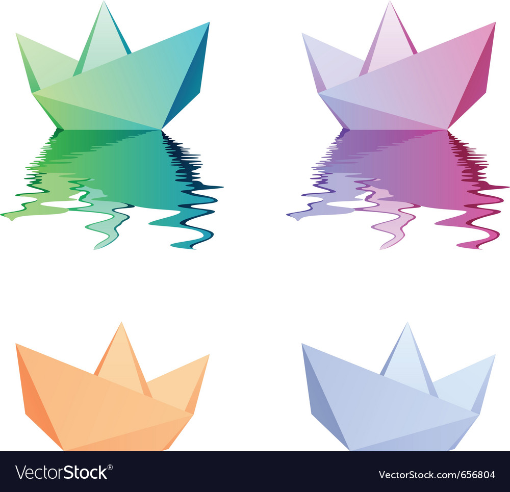Paper boats vector | Price: 1 Credit (USD $1)