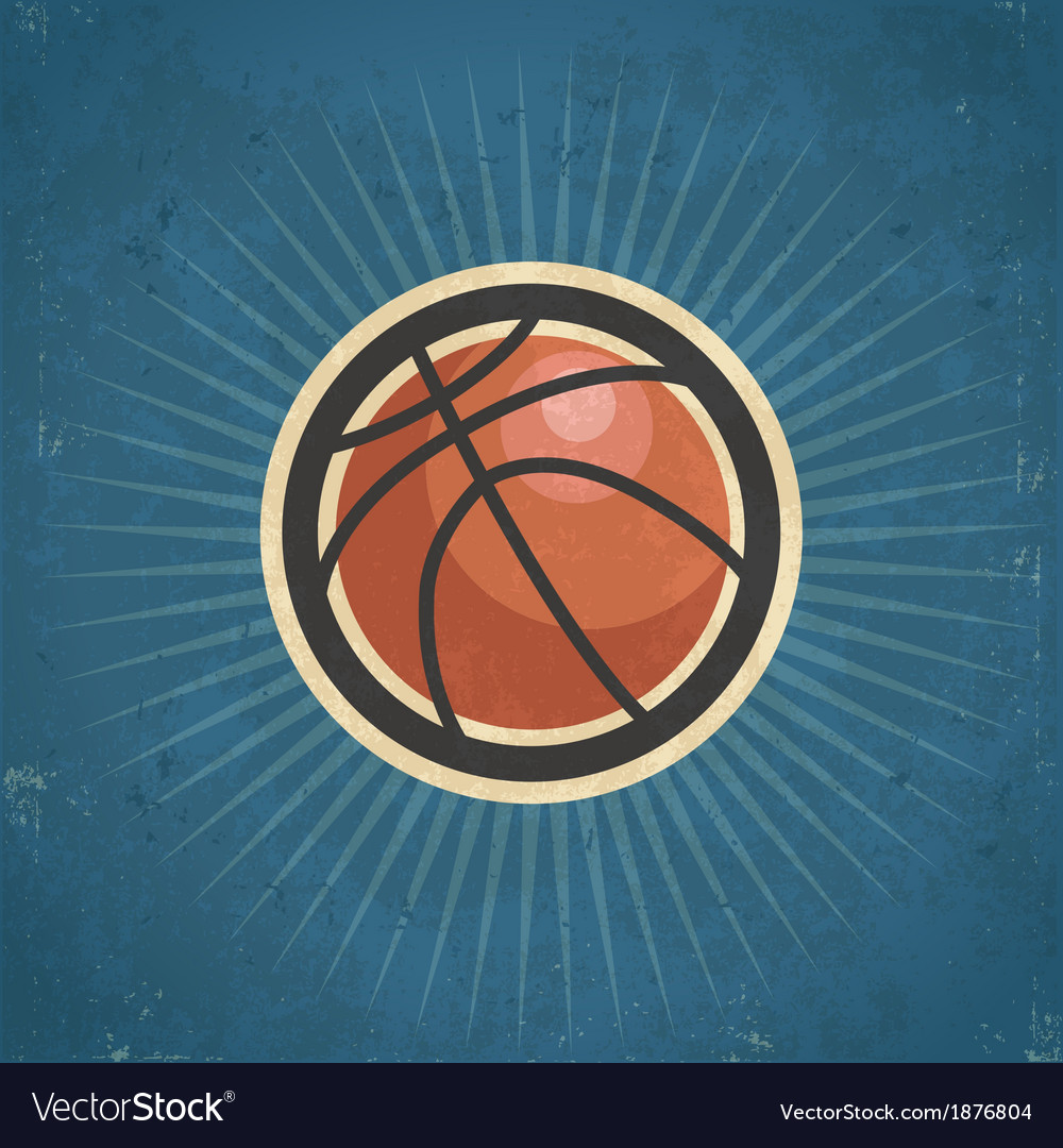 Retro basketball vector | Price: 1 Credit (USD $1)