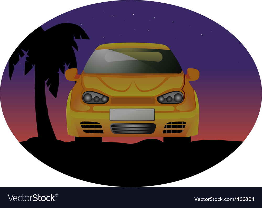 Sports car night vector | Price: 1 Credit (USD $1)