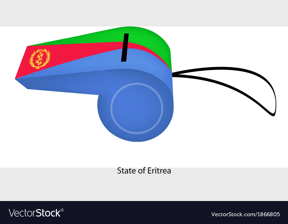 A whistle of the state of eritrea vector | Price: 1 Credit (USD $1)