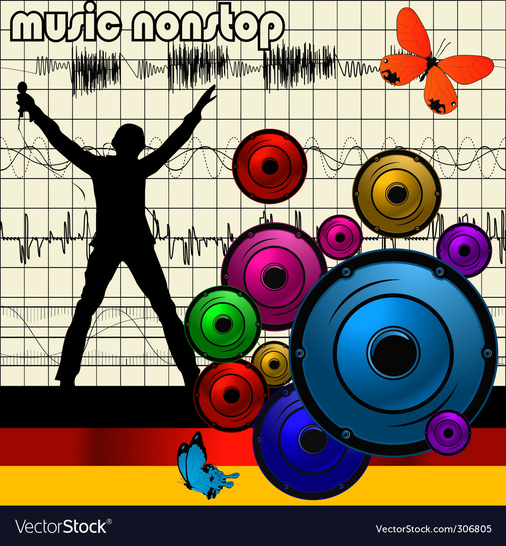 Abstract musical vector | Price: 1 Credit (USD $1)
