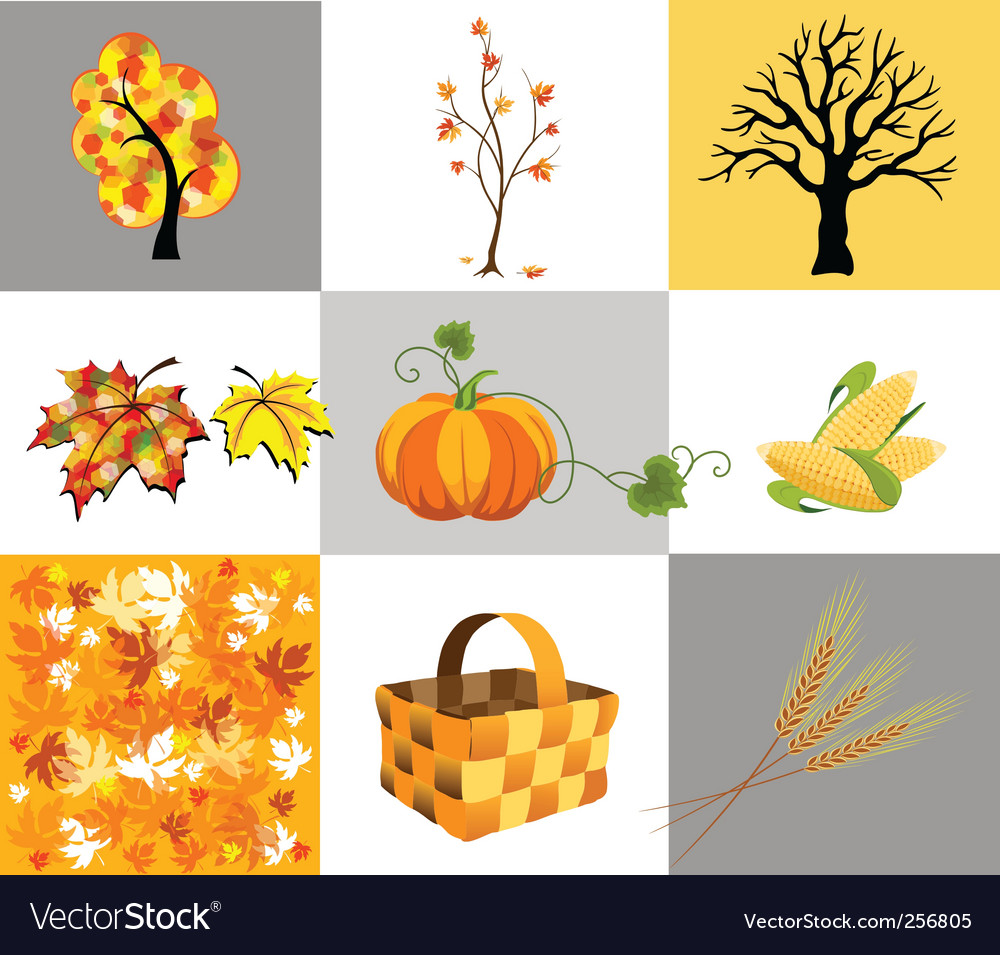 Autumn icons vector | Price: 1 Credit (USD $1)