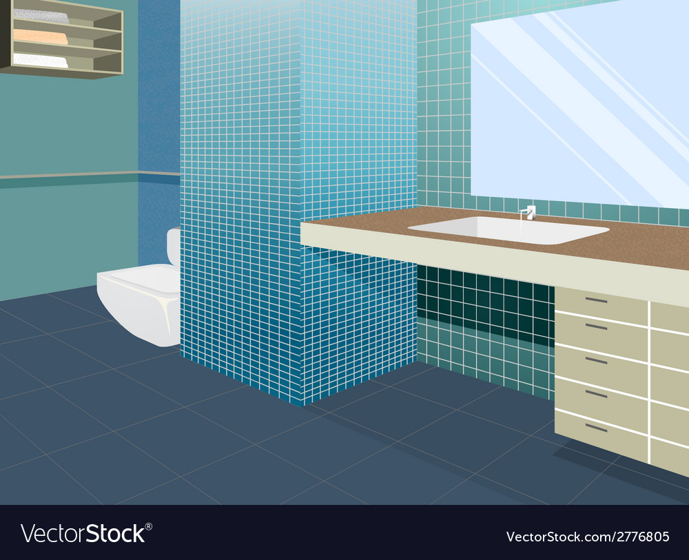 Bathroom colors scene vector | Price: 1 Credit (USD $1)