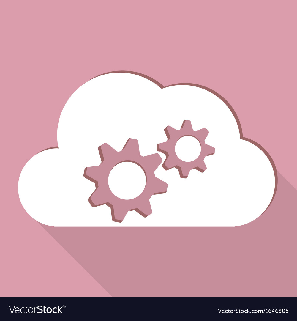 Cloud application settings web icon vector | Price: 1 Credit (USD $1)