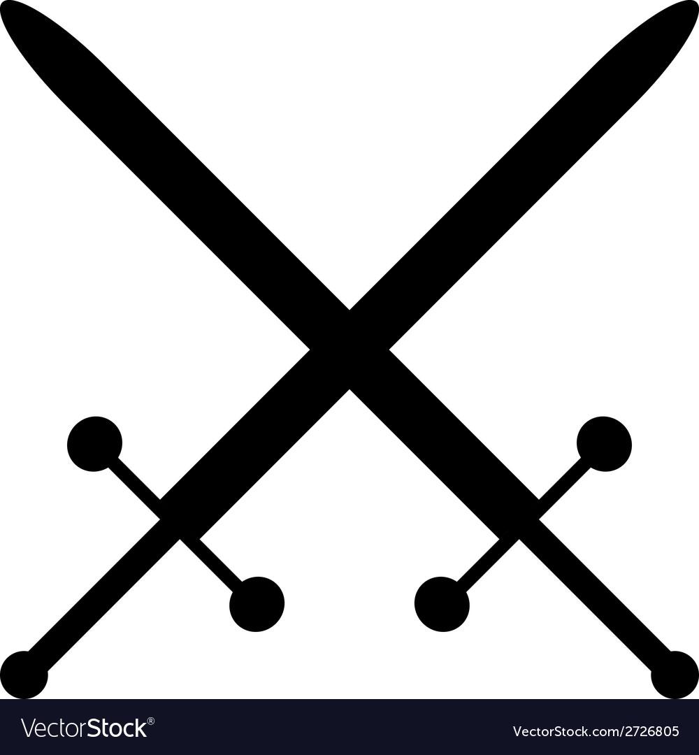 Crossed swords icon vector | Price: 1 Credit (USD $1)