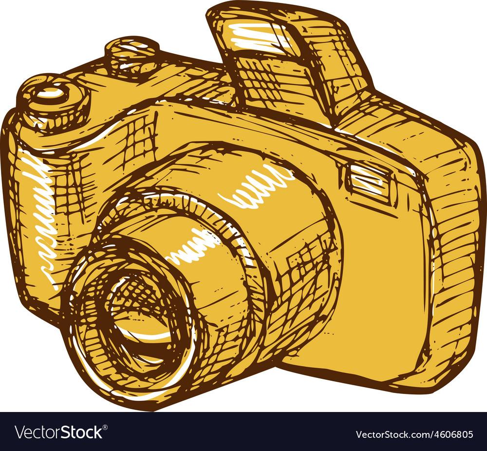 Digital camera drawing vector   Price: 1 Credit (USD $1)