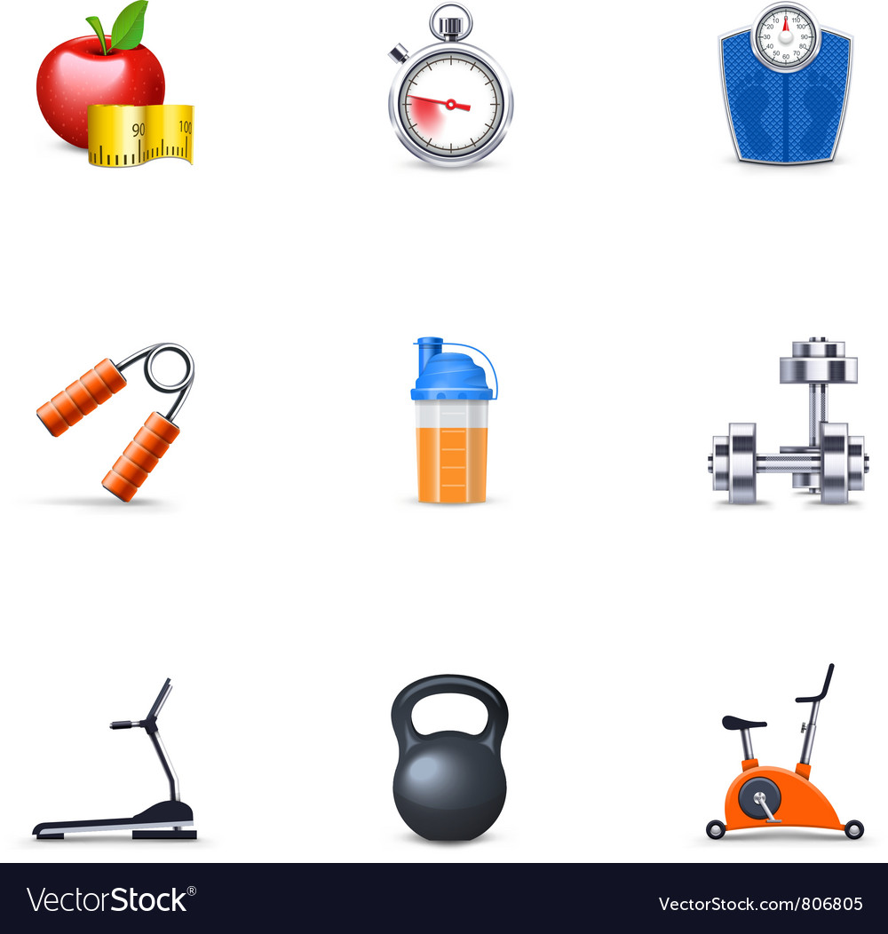 Fitness icons vector | Price: 3 Credit (USD $3)